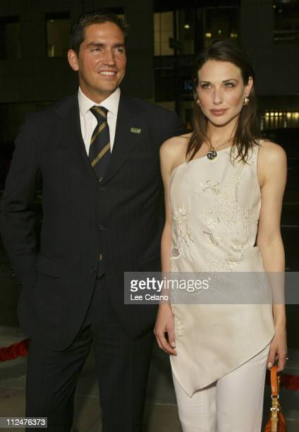 James Caviezel and Claire Forlani during Bobby Jones Stroke of Genius Los Angeles Premiere Red Carpet at Samuel Goldwyn Theater in Beverly Hills...