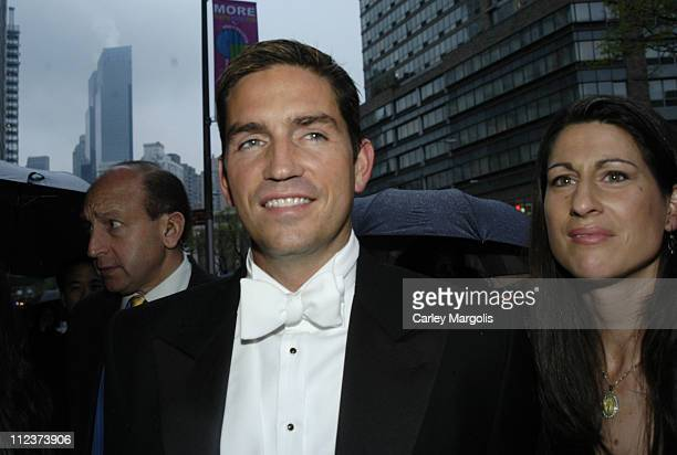 James Caviezel and guest during 'Bobby Jones Stroke of Genius' New York Premiere Arrivals at Tavern on the Green in New York City New York United...