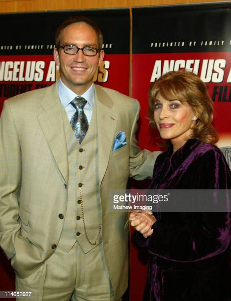 James Caviezel and Mrs. Veronique Peck, Gregory Peck's widow, at the 8th Annual Angelus Awards Student Film Festival on October 25, 2003. Caviezel...