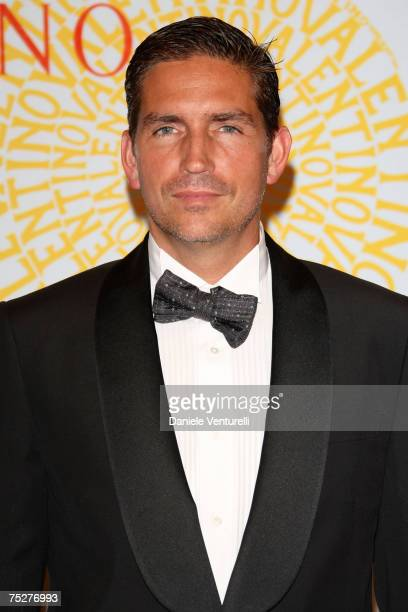 James Caviezel arrives for the 'Valentino 45th Anniversary Celebration' Gala held at the Villa Borghese in the Parco dei Daini on July 7 2007 in Rome...