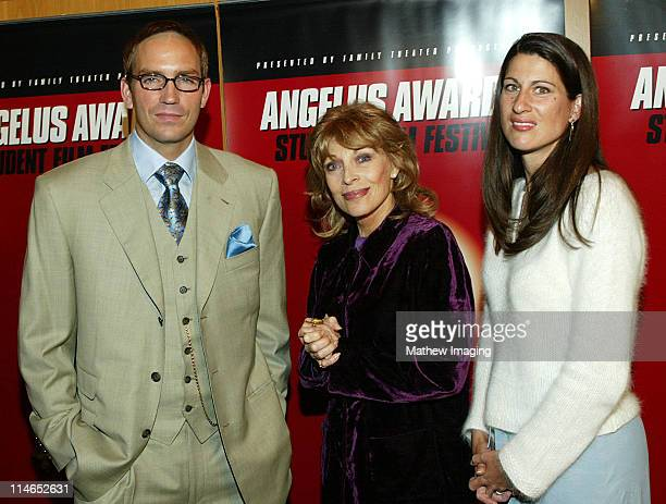 James Caviezel, Mrs. Veronique Peck, Gregory Peck's widow and wife Kerri Caviezel at the 8th Annual Angelus Awards Student Film Festival on October...