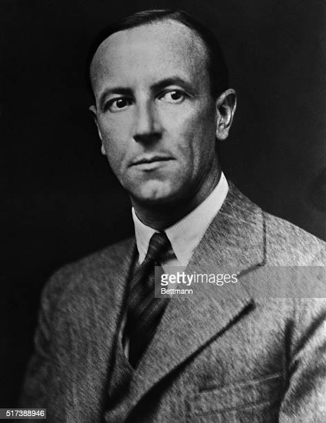 """James Chadwick, English physicist; """"discoverer"""" of the neutron ; awarded the 1935 Nobel Prize for Physics. Undated photograph."""