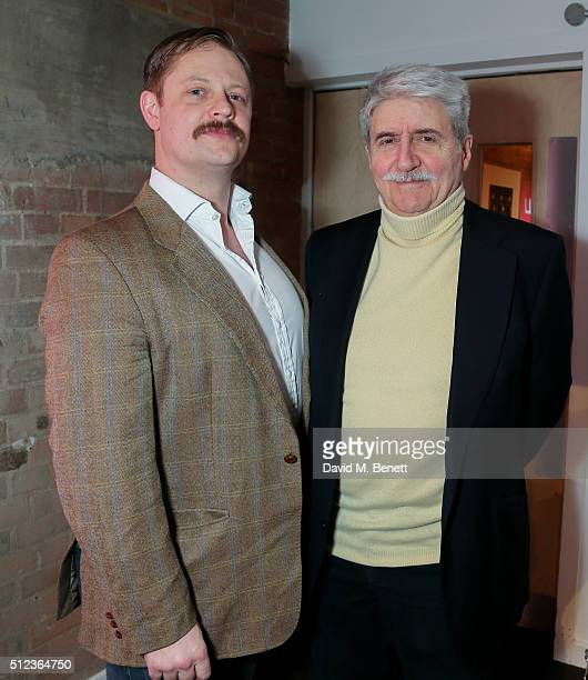 James Chalmers and Tom Conti attends the press night performance of 'The Patriotic Traitor' at the Park Theatre on February 25 2016 in London England