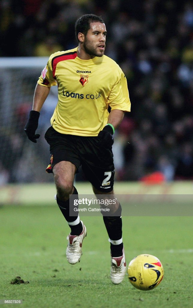James Chambers of Watford is seen in action during the Coca-Cola Championship match between Watford and Brighton & Hove Albion at Vicarage Road on December 3, 2005 in Watford, England.