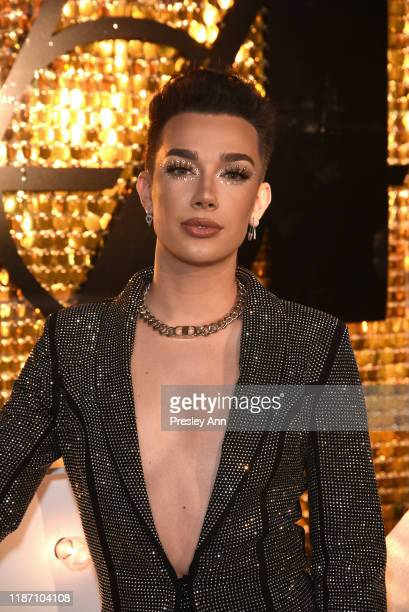 James Charles attends Patrick Starrr birthday party on November 11, 2019 in Los Angeles, California.