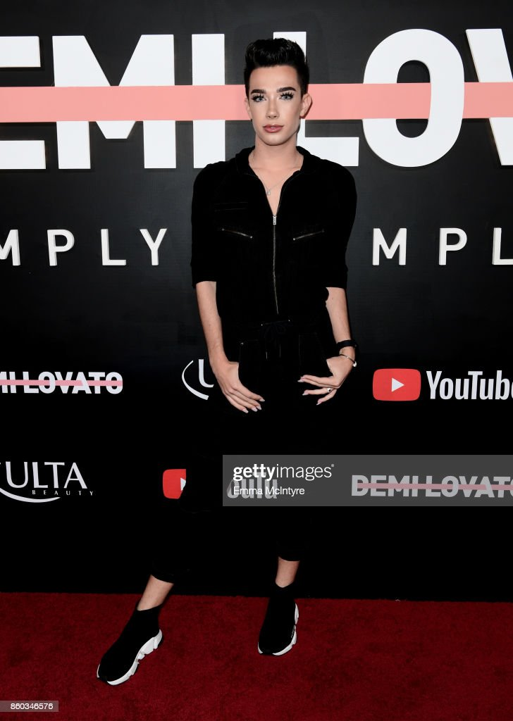 James Charles attends the 'Demi Lovato: Simply Complicated' YouTube premiere at The Fonda Theatre on October 11, 2017 in Los Angeles, California.