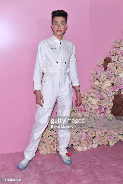 James Charles attends the launch of Patrick Ta's Beauty Collection at Goya Studios on April 04 2019 in Los Angeles California