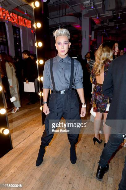 James Charles celebrates the launch of YouTube.com/Fashion on September 09, 2019 in New York City.
