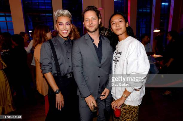 James Charles Derek Blasberg and Alexander Wang celebrate the launch of YouTubecom/Fashion on September 09 2019 in New York City