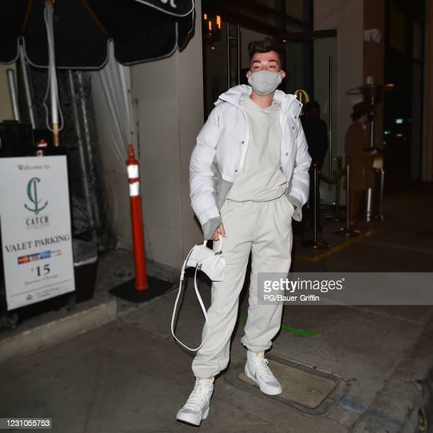 James Charles is seen at Catch LA on February 08, 2021 in Los Angeles, California.