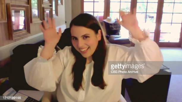 James chats with Beanie Feldstein from his garage on THE LATE LATE SHOW WITH JAMES CORDEN, scheduled to air Wednesday, May 6, 2020 on the CBS...