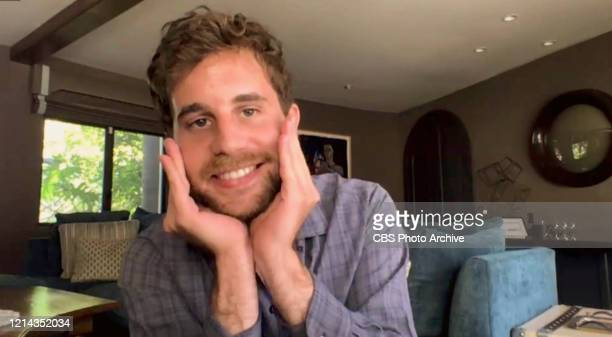 James chats with Ben Platt from his garage on THE LATE LATE SHOW WITH JAMES CORDEN, scheduled to air Wednesday May 20, 2020 on the CBS Television...