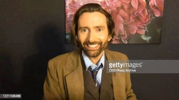 James chats with David Tennant on THE LATE LATE SHOW WITH JAMES CORDEN scheduled to air Thursday June 18 2020 on the CBS Television Network Image is...