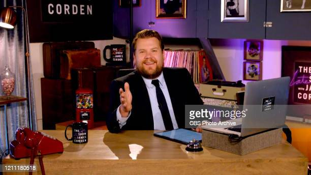 James chats with guests from his garage on THE LATE LATE SHOW WITH JAMES CORDEN, scheduled to air Monday, April 27, 2020 on the CBS Television...