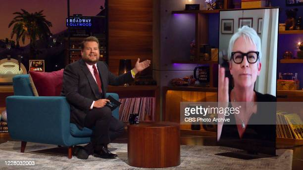 James chats with Jamie Lee Curtis on THE LATE LATE SHOW WITH JAMES CORDEN scheduled to air Tuesday August 11 2020 on the CBS Television Network Image...