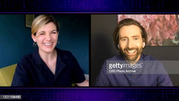 James chats with Jodie Whittaker and David Tennant from his garage on THE LATE LATE SHOW WITH JAMES CORDEN, scheduled to air Thursday June 18, 2020...