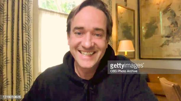 James chats with Matthew Macfadyen from his garage on THE LATE LATE SHOW WITH JAMES CORDEN scheduled to air Monday June 8 2020 on the CBS Television...