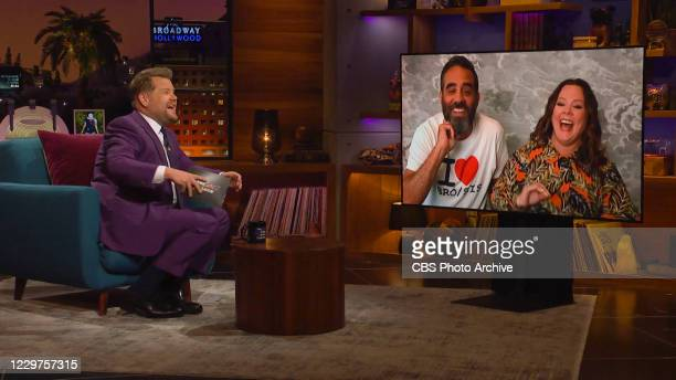 James chats with Melissa McCarthy and Bobby Cannavale on THE LATE LATE SHOW WITH JAMES CORDEN, scheduled to air Tuesday, November 17, 2020 on the CBS...