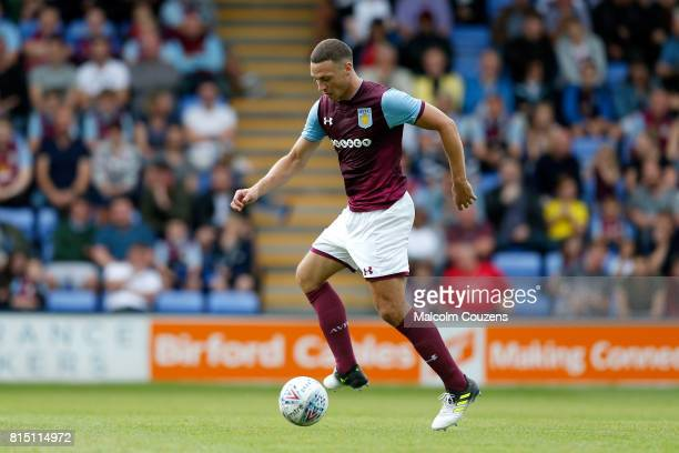 James Chester of Aston Villa during the PreSeason Friendly between Shrewsbury Town and Aston Villa at the Montgomery Waters Meadow on July 15 2017 in...
