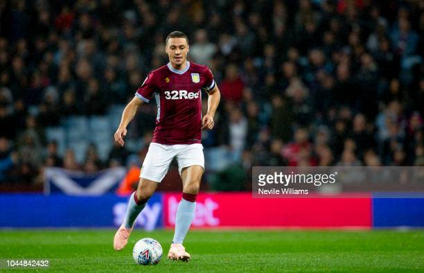 James Chester of Aston Villa during the Sky Bet Championship match between Aston Villa and Preston North End at Villa Park on October 02 2018 in...
