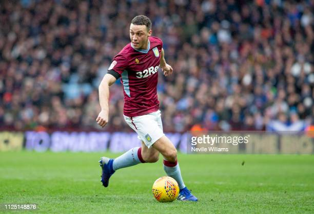 James Chester of Aston Villa during the Sky Bet Championship match between Aston Villa and Ipswich Town at Villa Park on January 26 2019 in...