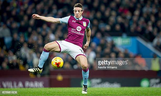 James Chester of Aston Villa during the Sky Bet Championship match between Aston Villa and Cardiff City at Villa Park on November 26 2016 in...