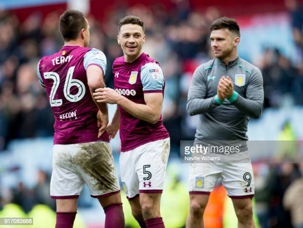 James Chester of Aston Villa during the Sky Bet Championship match between Aston Villa and Birmingham City at Villa Park on February 11 2018 in...