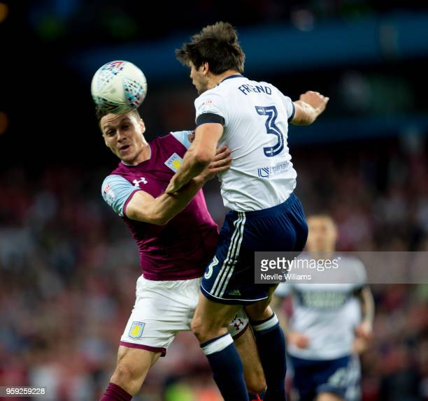 James Chester of Aston Villa during the Sky Bet Championship Play Off Semi Final Second Leg match between Aston Villa and Middlesbrough at Villa Park...