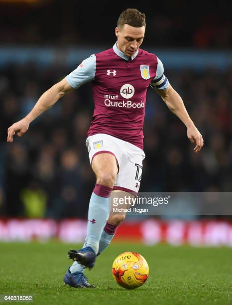 James Chester of Aston Villa in action during the Sky Bet Championship match between Aston Villa and Bristol City at Villa Park on February 28 2017...