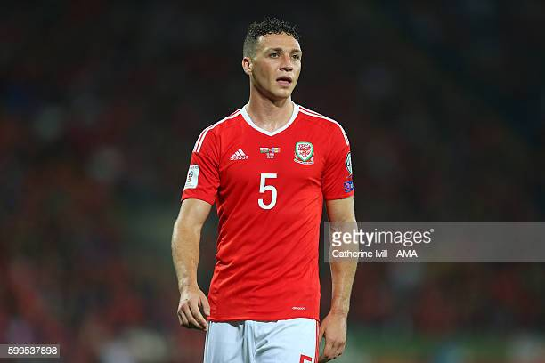 James Chester of Wales during the 2018 FIFA World Cup Group D qualifying match between Wales and Moldova at Cardiff City Stadium on September 5 2016...