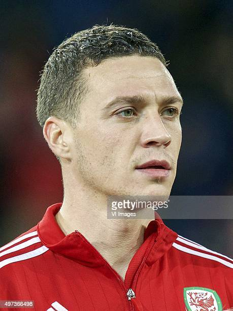 James Chester of Wales during the International friendly match between Wales and Netherlands on November 13 2015 at the Cardiff City stadium in...