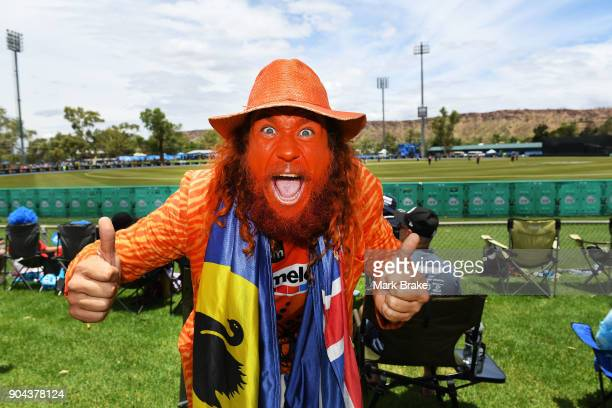James Choombies during the Big Bash League match between the Adelaide Strikers and the Perth Scorchers at Traeger Park on January 13 2018 in Alice...