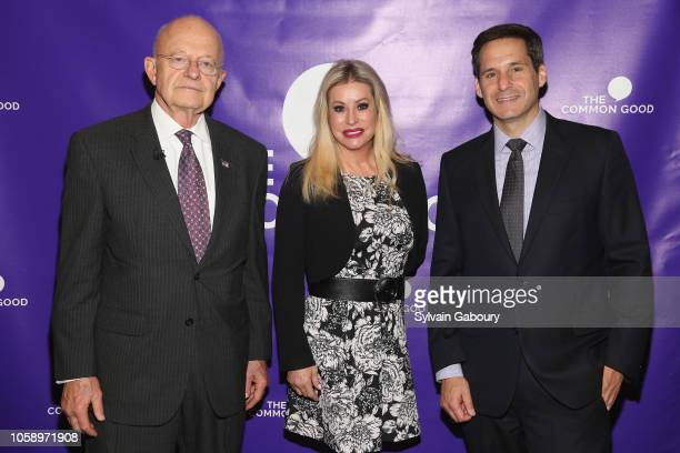 James Clapper Gail Evertz and John Berman attend The Common Good And The 92nd Street Y CoPresent Director James Clapper In Conversation With John...