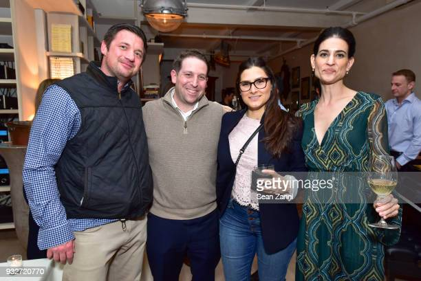 James Clark Michael Schwartz Lisa Schwartz and Michelle Babu attend The Initiation Book Launch at Bouley TK on March 15 2018 in New York City