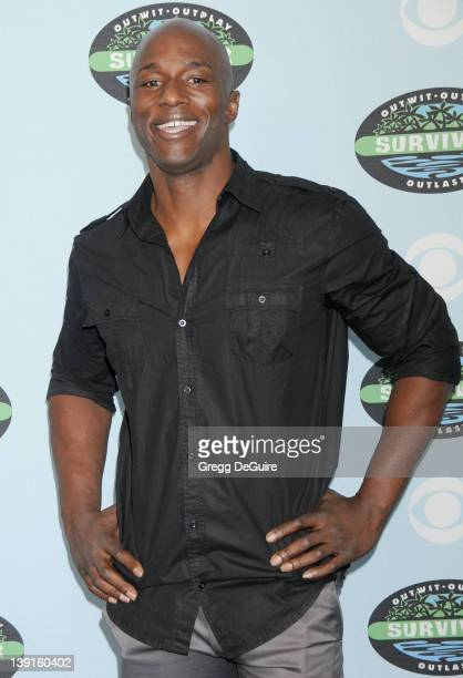 James Clement arrives at Survivor 10 Year Anniversary Party at CBS Television City on January 9 2010 in Los Angeles California