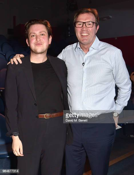 James Clements and Andrew Morton attend the press night after party for 'The Diana Tapes' at the Stockwell Playhouse on June 26 2018 in London England