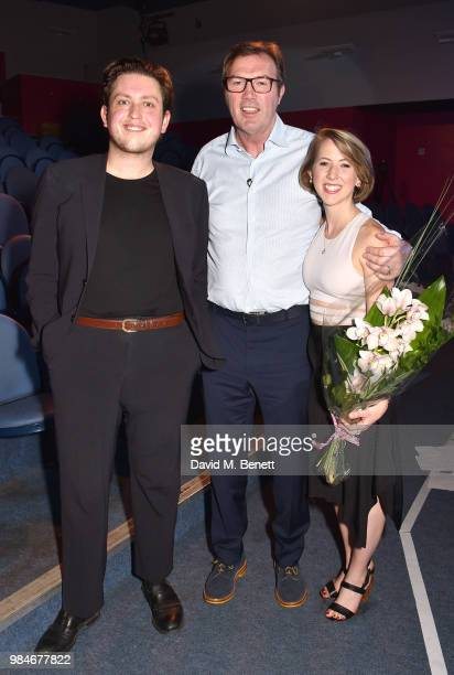 James Clements Andrew Morton and Cristina Schuler attend the press night after party for 'The Diana Tapes' at the Stockwell Playhouse on June 26 2018...