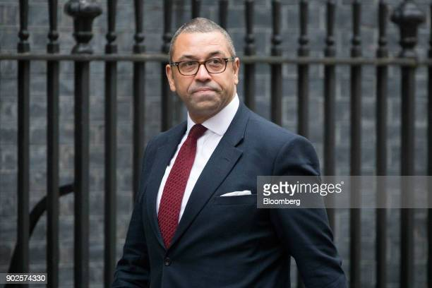 James Cleverly incoming deputy chairman of the Conservative Party arrives at number 10 Downing Street in London UK on Monday Jan 8 2018 Theresa...