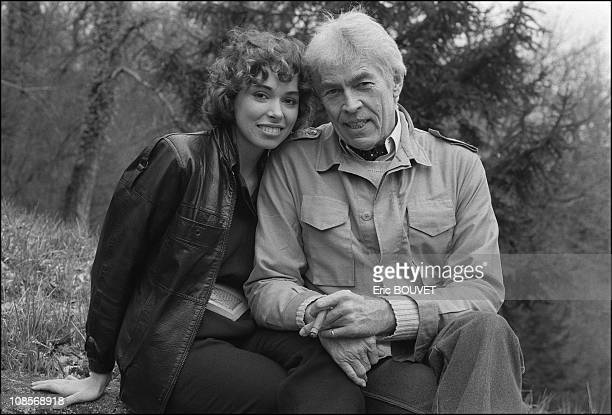 James Coburn and Lisa Alexander in Cognac France on January 04th 1984