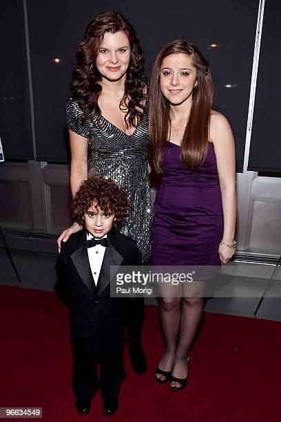 James Cognata Heather Tom and Joy Cognata attend a screening of 'The Putt Putt Syndrome' at Tribeca Cinemas on February 12 2010 in New York City