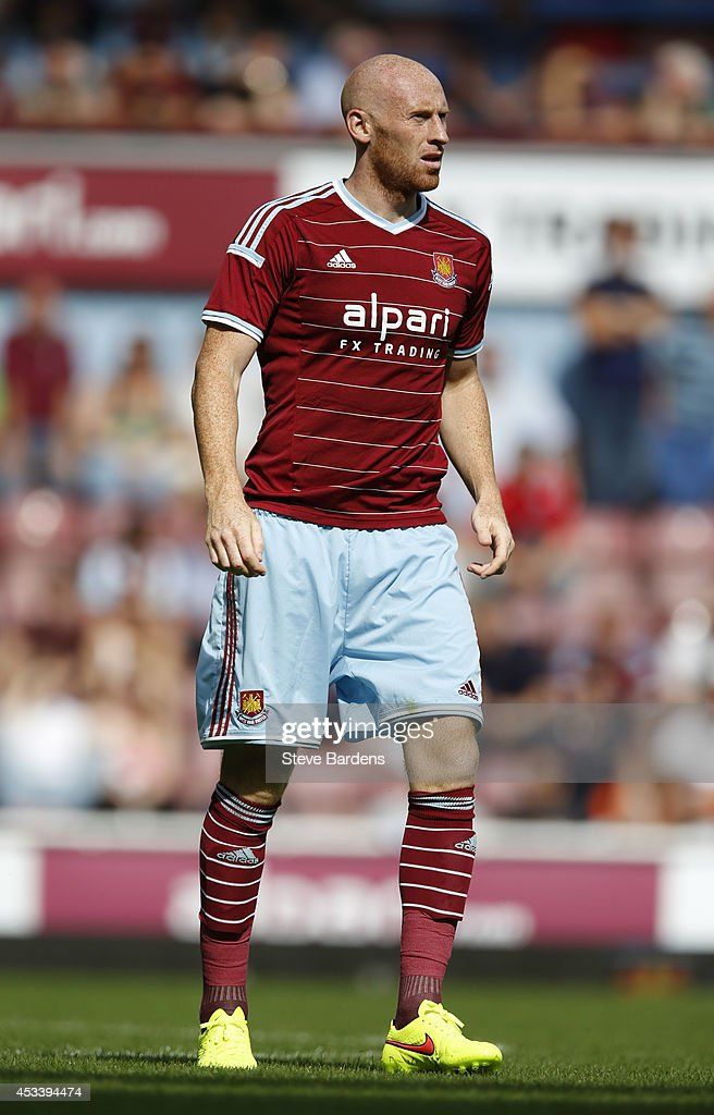 James Collins of West Ham United during the pre-season friendly match between West Ham United and Sampdoria at Boleyn Ground on August 9, 2014 in London, England.