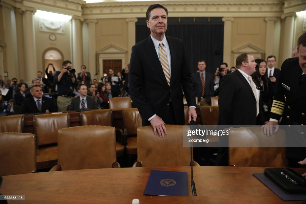 House Intelligence Committee Hears Testimony From FBI Director James Comey : News Photo
