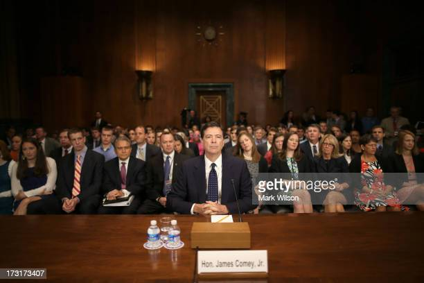 James Comey Jr nominee to be director of the Federal Bureau of Investigation prepares for his Senate Judiciary Committee confirmation hearing on...