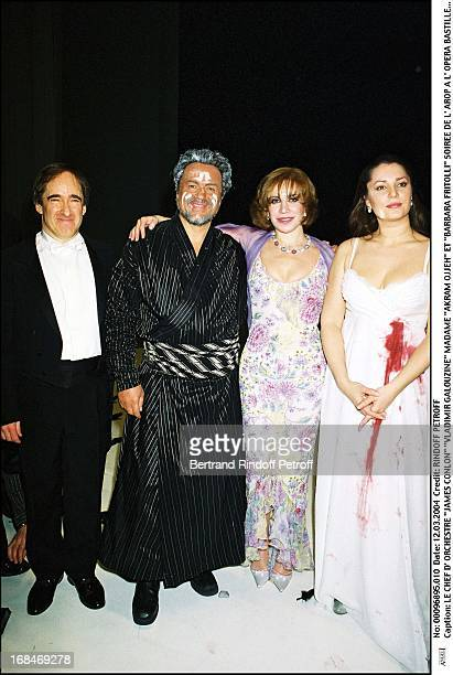 James Conlon 'Vladimir Galouzine' Madame 'Akram Ojjeh' and 'Barbara Fritolli' at L'Arop Gala At L'Opera Bastille In Paris