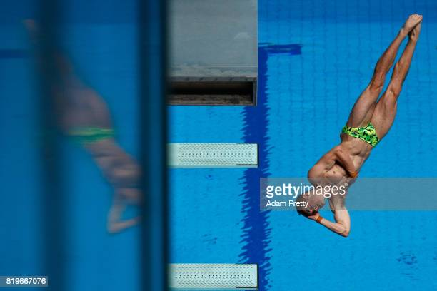 James Connor of Australia competes during the Men's 3M Springboard final on day seven of the Budapest 2017 FINA World Championships on July 20 2017...