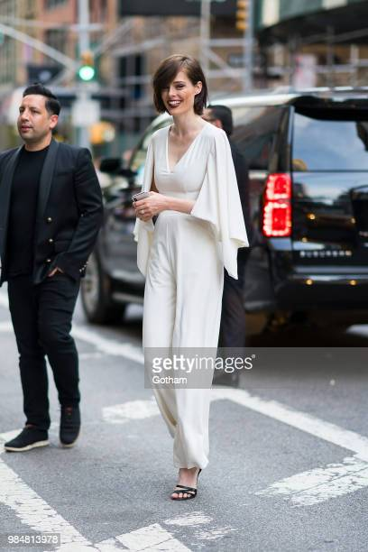 James Conran and Coco Rocha are seen in Chelsea on June 26 2018 in New York City