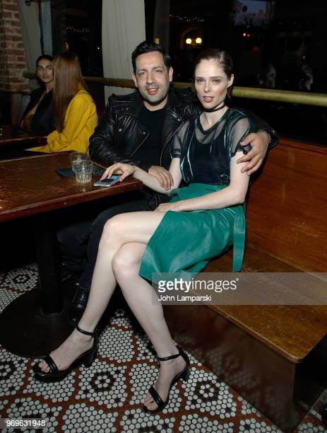 James Conran and Coco Rocha attend CHAOS x LOVE magazine party on June 7 2018 in New York City