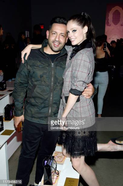 James Conran and Coco Rocha attend the Anna Sui front row during New York Fashion Week The Shows at Gallery I at Spring Studios on September 09 2019...