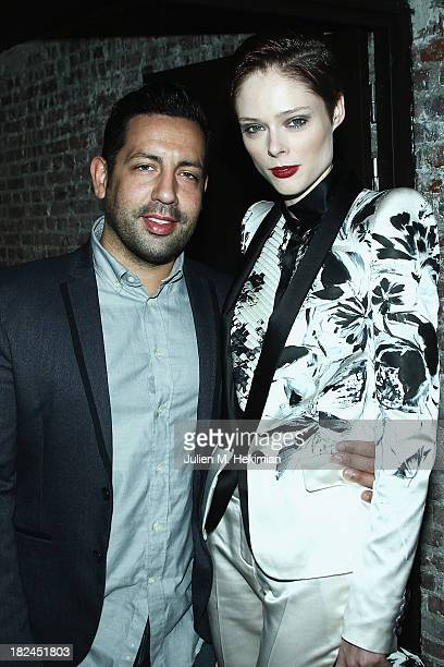 James Conran and Coco Rocha attend the Glamour dinner for Patrick Demarchelier as part of the Paris Fashion Week Womenswear Spring/Summer 2014 at...