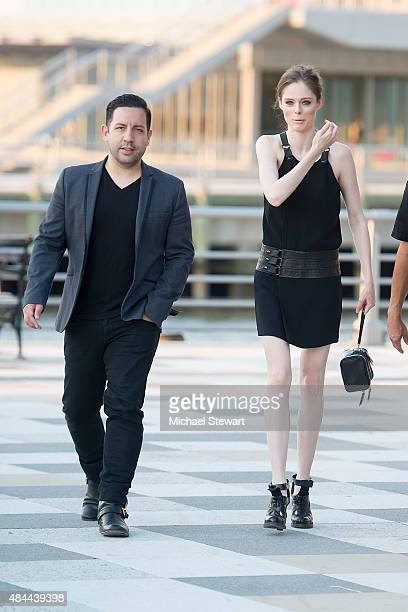 James Conran and model Coco Roca seen walking in Tribeca on August 18 2015 in New York City